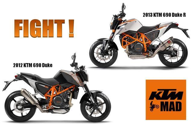 Difference between 2012 KTM 690 and 2013 690 R