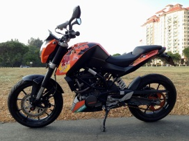KTM Duke Custom Decals 3