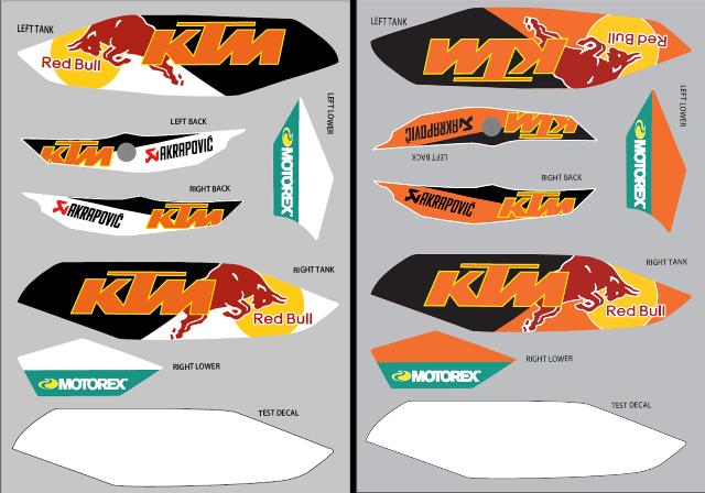 KTM Duke Custom Decals